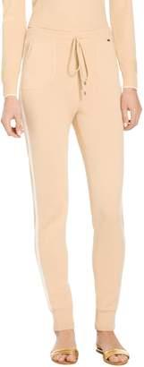 St. John Cashmere Jersey Knit Cropped Pants