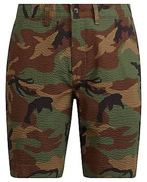 Polo Ralph Lauren Men's Seersucker Camouflage Flat Shorts