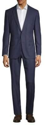 HUGO BOSS Standard-Fit Wool Tonal Stripe Suit
