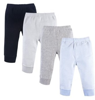 Luvable Friends Tapered Ankle Pants, 4pk (Baby Boys)