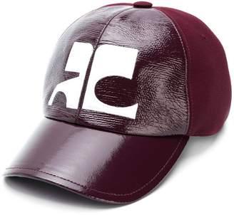 Courreges logo panelled cap