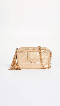 Chanel What Goes Around Comes Around Gold CC Tab Camera Small