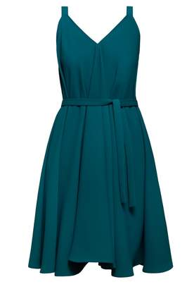 UNDRESS - Aliferous Jade Strappy Flared Occasion Guest Midi Dress