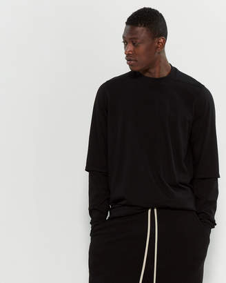 Rick Owens Drop Crotch Drawstring Cropped Pants