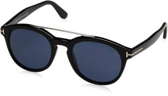 0a2fceda01 Tom Ford Newman FT 515 01V Shiny Silver   Dark Blue Sunglasses