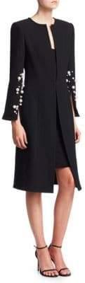 Oscar de la Renta Pearl-Embellished Coat