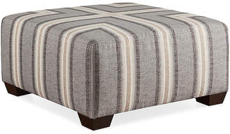 Joe Ruggiero Collection Gable Cocktail Ottoman - Gray Sunbrella