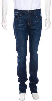 Frame Distressed L'Homme Straight-Leg Jeans