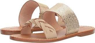 Soludos Women's Metallic Braided Slide Sandal Flat