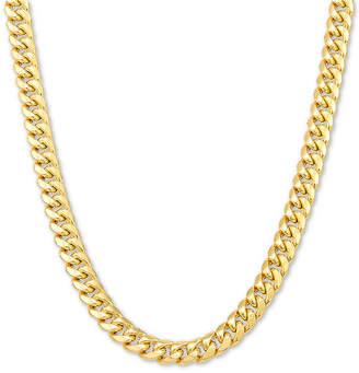 "Italian Gold Men Miami Cuban Link 22"" Chain Necklace in 10k Gold"