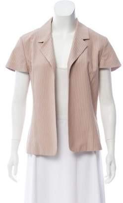 Yansi Fugel Striped Short Sleeve Blazer