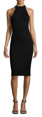 L'Agence Iman Ribbed Bodycon Dress