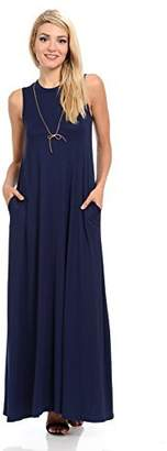 Pastel by Vivienne Women's Sleeveless Maxi Dress with Pockets