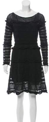 Lanvin Knit Long Sleeve Dress