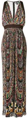 Just Cavalli printed micro pleat dress