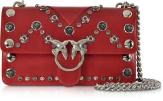Pinko Love Maxi Studs Leather Shoulder bag