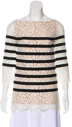 Michael Kors Striped Lace Top