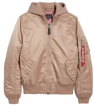 Alpha Industries MA-1 Natus Hooded Bomber Jacket