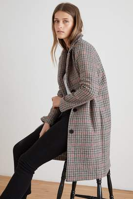 Velvet by Graham & Spencer GRAHAM HOUNDSTOOTH LONG COAT