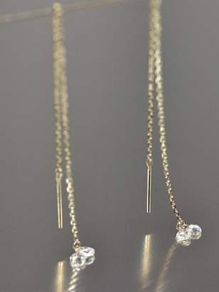 Kataoka Double Round Diamond Thread Through Earrings