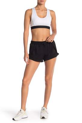 BCBGeneration Mesh Overlay Shorts