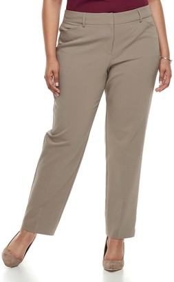 Apt. 9 Plus Size Torie Modern Fit Straight-Leg Dress Pants