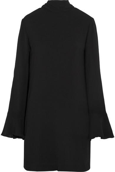 IRO - Anna Ruffled Crepe Mini Dress - Black