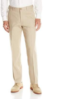 Haggar Men's Stretch Color Denim Expandable Waist Classic Fit Plain Front Pant