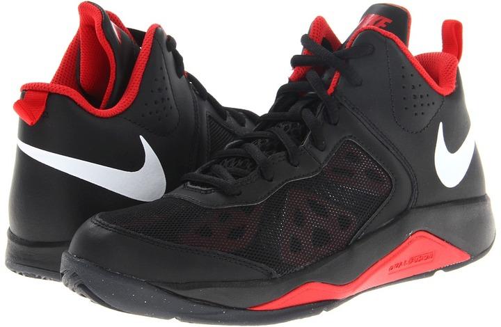 Nike Dual Fusion BB (Big Kid) (Black/University Red/Anthracite/White) - Footwear