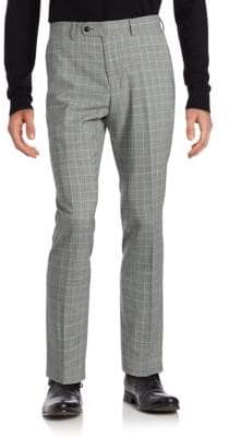 Original Penguin Plaid Wool-Blend Dress Pants