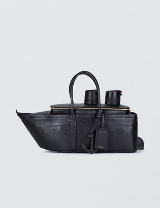 Thom Browne Pebble Grain Leather Cruise Liner Bag $2,700 thestylecure.com
