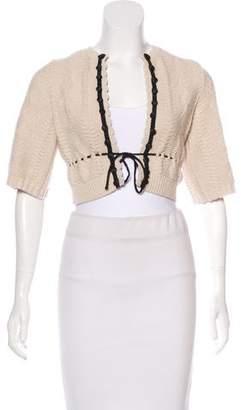 Chloé Wool Cropped Cardigan