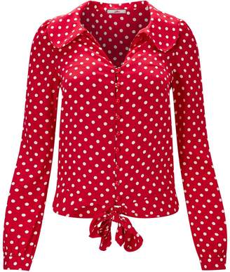 983aeb42f6a326 Red White Polka Dot Top - ShopStyle UK