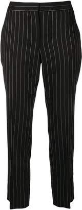 Alexander McQueen striped print cropped trousers