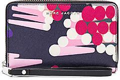 Marc Jacobs Saffiano Geo Spot Zip Phone Wristlet