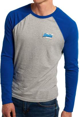 Superdry Men's Gray & Blue Baseball Long Sleeved T-shirt XXL