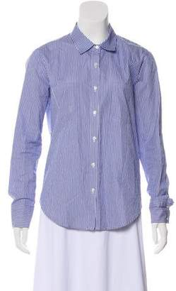 Anine Bing Striped Long Sleeve Button-Up