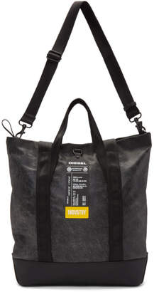Diesel Black Leather Volpago Tote
