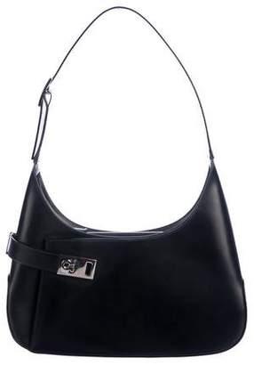 6dfad30839 Salvatore Ferragamo Black Leather Hobo Bags - ShopStyle