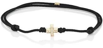 Luis Morais Men's Greek-Cross Corded Bracelet - Black