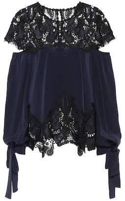 Jonathan Simkhai Lace-trimmed blouse