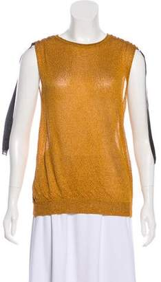 Lanvin Textured Sleeveless Top