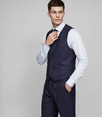Reiss Robin W Modern-Fit Hopsack Weave Waistcoat
