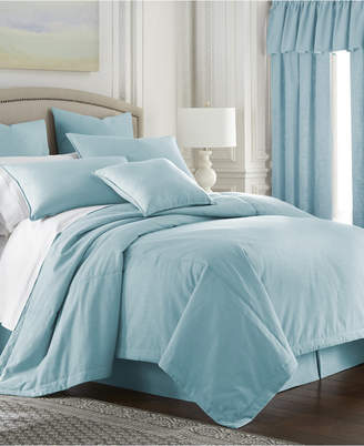 Colcha Linens Cambric Aqua Duvet Cover-King/California King Bedding