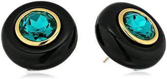 "Trina Turk Destination Groove"" Oversized Resin Button Stud Earrings"