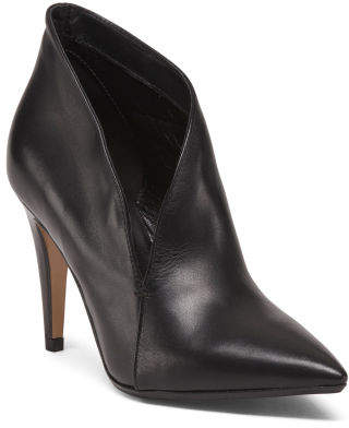 Made In Italy High Heel Leather Shooties