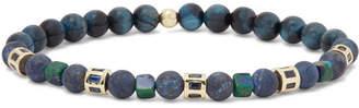 Luis Morais 14-Karat Gold Sapphire Beaded Bracelet - Men - Black