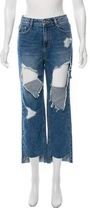 Sjyp High-Rise Straight-Leg Jeans w/ Tags