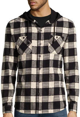 Union Bay Long-Sleeve Grant Flannel Hoodie $44 thestylecure.com