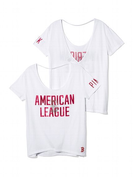 Victoria's Secret PINK Boston Red Sox Bling Low-back Tee
